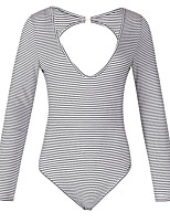 economico -T-shirt Per donna Essenziale Schiena scoperta, Tinta unita