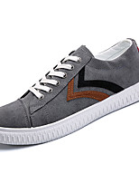 cheap -Men's Canvas Summer Comfort Sneakers Color Block Black / Gray / Yellow