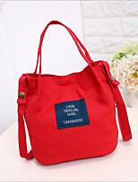 cheap -Women's Bags Canvas Shoulder Bag Zipper Yellow / Dark Green / Light Gray