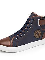 cheap -Men's Faux Leather Fall Comfort Sneakers Black / Blue / Khaki