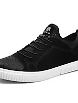 Недорогие -Муж. Кожа Лето Удобная обувь Кеды Черный / Серый / Хаки