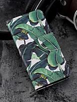 Недорогие -Кейс для Назначение Apple iPhone X / iPhone 8 Plus Кошелек / Бумажник для карт / со стендом Чехол дерево Твердый Кожа PU для iPhone X / iPhone 8 Pluss / iPhone 8