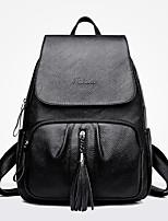 Недорогие -Жен. Мешки PU рюкзак Молнии Красный / Серый / Коричневый
