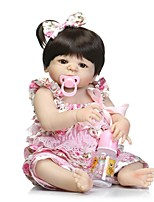 cheap -NPKCOLLECTION Reborn Doll Baby Girl 24 inch Full Body Silicone / Silicone / Vinyl - lifelike Kid's Girls' Gift