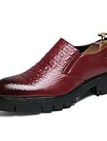 Недорогие -Муж. Искусственная кожа Осень Удобная обувь Туфли на шнуровке Черный / Красный