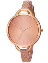 baratos -Mulheres Relógio de Pulso Chinês Cronógrafo / Fofo / Relógio Casual Aço Inoxidável Banda Rígida / Elegante Preta / Prata / Dourada