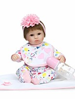cheap -NPKCOLLECTION Reborn Doll Baby Girl 18 inch Vinyl - Artificial Implantation Brown Eyes Kid's Girls' Gift