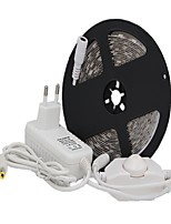 abordables -5 m Tiras LED Flexibles 300 LED SMD5050 1 x 12V 3A adaptador / 1 x interruptor de atenuación Blanco Cálido / Blanco / Rojo Cortable / Decorativa / Adecuadas para Vehículos 12 V 1 juego