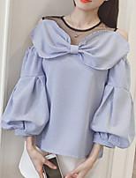 economico -Camicia Per donna A strisce / Monocolore Cotone