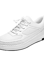 cheap -Men's Canvas / PU(Polyurethane) Spring / Summer Comfort Sneakers White / Black / Gray