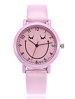 cheap -Women's Dress Watch / Wrist Watch Chinese New Design / Casual Watch / Adorable Leather Band Cartoon / Fashion White / Blue / Pink / Stainless Steel / One Year / SSUO 377