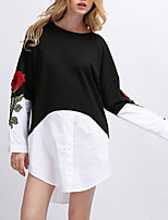 cheap -Women's Going out Shirt - Floral / Color Block