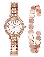 baratos -Mulheres Relógio Elegante / Bracele Relógio Chinês Criativo Aço Inoxidável Banda Fashion / Elegante Prata