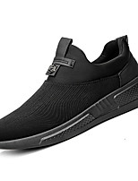 cheap -Men's PU(Polyurethane) / Elastic Fabric Spring / Summer Comfort Sneakers Black / Black / White