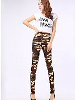cheap -Women's Daily Basic Legging - Camouflage, Print High Waist