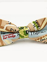 cheap -Men's Party / Basic Cotton / Polyester Bow Tie - Print / Color Block / Patchwork Bow / All Seasons