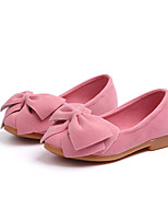 cheap -Girls' Shoes Faux Leather Spring / Fall Comfort / Flower Girl Shoes Flats Bowknot for Kids Yellow / Fuchsia / Pink / Wedding / Party & Evening