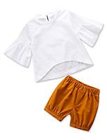 economico -Bambino (1-4 anni) Da ragazza Tinta unita Mezza manica Completo