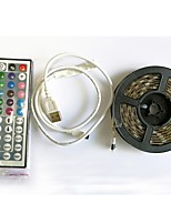 abordables -2m Bandes Lumineuses LED Flexibles / Barrette d'Eclairage RVB / Télécommandes 60 LED SMD5050 1 44Keys Télécommande RGB + Blanc Découpable / USB / Imperméable 5 V 1set / IP65 / Auto-Adhésives