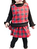 cheap -Baby Girls' Color Block Long Sleeve Clothing Set