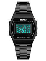 baratos -SKMEI Homens Relógio Esportivo Japanês Alarme / Calendário / Cronógrafo Aço Inoxidável Banda Casual / Fashion Preta / Azul / Prata