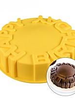 Недорогие -Инструменты для выпечки Силикон День рождения / Своими руками Печенье / Шоколад / Для торта Круглый Формы для пирожных / Десертные инструменты 1шт