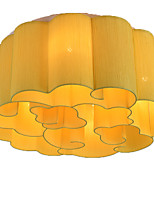 baratos -QIHengZhaoMing 6-luz Montagem do Fluxo Luz Ambiente - Cristal, 110-120V / 220-240V, Branco Quente, Lâmpada Incluída