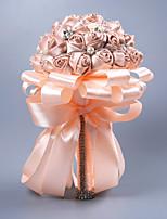 abordables -Fleurs de mariage Bouquets / Cadeaux Mariage Autre matériel / Comme Soie Satin / Dentelle 11-20 cm