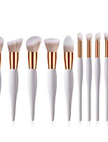 cheap -10-Pack Makeup Brushes Professional Makeup Brush Set / Blush Brush / Eyeshadow Brush Nylon fiber Soft / Full Coverage Wooden / Bamboo