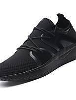 Недорогие -Муж. Резина Весна Удобная обувь Кеды Черный / Черно-белый / Хаки