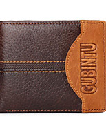 cheap -Men's Bags Nappa Leather Wallet Embossed Brown