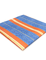 cheap -Men's Vintage / Party / Work Pocket Squares - Striped / Color Block / Rainbow