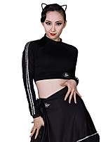cheap -Latin Dance Tops Women's Training Modal Sashes / Ribbons Long Sleeve Top