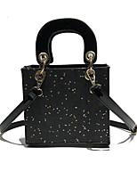 cheap -Women's Bags PU(Polyurethane) Shoulder Bag Sequin / Zipper Black / Red / Brown
