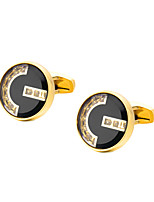 cheap -Geometric Golden Cufflinks Copper Formal / Classic All Costume Jewelry For Wedding / Formal