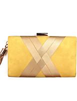 cheap -Women's Bags PU(Polyurethane) Evening Bag Buttons / Tassel Yellow