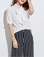cheap -women's blouse - solid colored stand