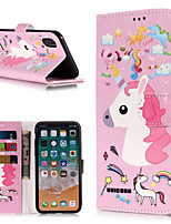 cheap -Case For Apple iPhone X / iPhone 8 Plus Wallet / Card Holder / with Stand Full Body Cases Unicorn Hard PU Leather for iPhone X / iPhone 8 Plus / iPhone 8