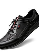 Недорогие -Муж. Кожа Весна Удобная обувь Кеды Черный