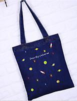 cheap -Women's Bags Denim Shoulder Bag Pattern / Print Blue / Navy Blue