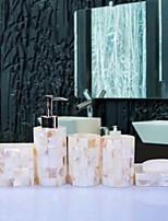 abordables -Set d'Accessoires de Salle de Bain Design nouveau Moderne Résine 6pcs - Salle de Bain Simple