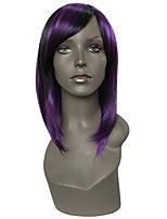 abordables -Pelucas sintéticas Recto Corte a capas / Corte asimétrico Pelo sintético Fiesta / Mujer / sintético Negro Peluca Mujer Larga Sin Tapa