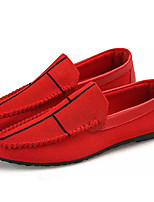 cheap -Men's Shoes Tulle Summer Moccasin / Driving Shoes Loafers & Slip-Ons Black / Red
