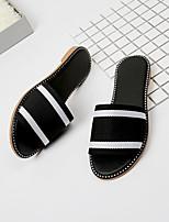 cheap -Women's Shoes PU(Polyurethane) Summer Comfort / Slingback Slippers & Flip-Flops Low Heel Black / Red