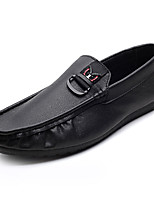 cheap -Men's Shoes Faux Leather / PU(Polyurethane) Fall Comfort / Moccasin Loafers & Slip-Ons White / Black