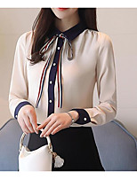 Недорогие -Жен. Блуза Уличный стиль Контрастных цветов