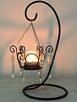 cheap -European Style Iron Candle Holders / Candles Tealight / Candlestick 1pc, Candle / Candle Holder