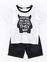 cheap -Kids Boys' Color Block Short Sleeve Clothing Set