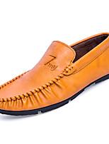 Недорогие -Муж. обувь Наппа Leather Лето Мокасины Мокасины и Свитер Черный / Серый / Желтый