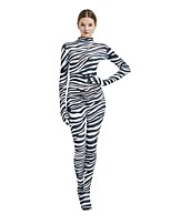 abordables -Costumes zentai à motifs / Costume de Cosplay Costume Zentai Costumes de Cosplay Noir Zébré Boas et Plumes / Elastique Unisexe Halloween / Carnaval / Mascarade